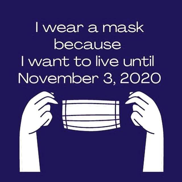 I Wear A Mask Because I Want To Live Until November 3 2020 Things I Want How To Get November 3