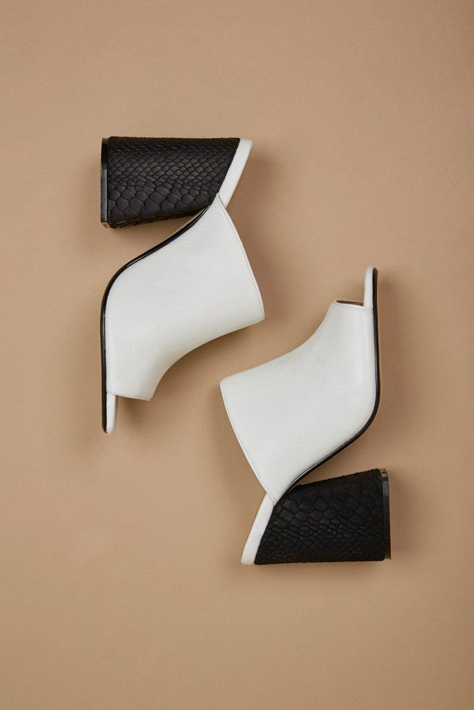 PROJECTION HEEL white