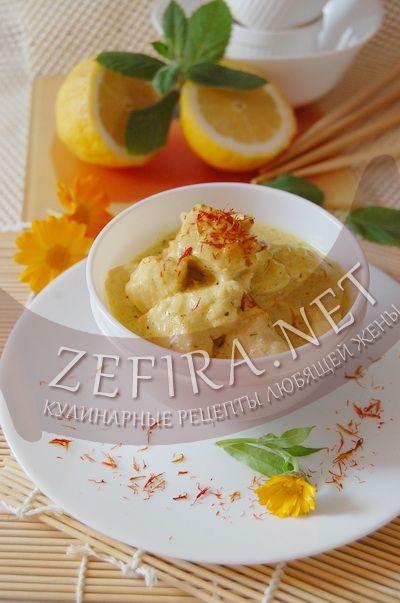 Куриное филе в сливках с шафраном-домашние рецепты с фото