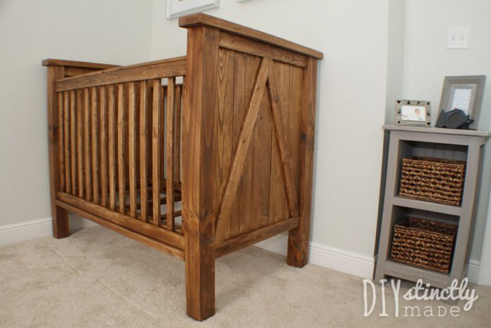Our DIY Crib for our baby's rustic outdoors themed nursery | View the blog post at www.diystinctlymade.com
