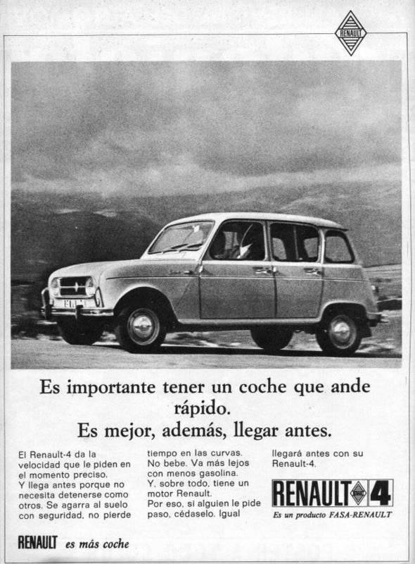 """Renault 4 """"es mejor llegar antes""""  Cambio e-shop por Renault 4 en regla"""