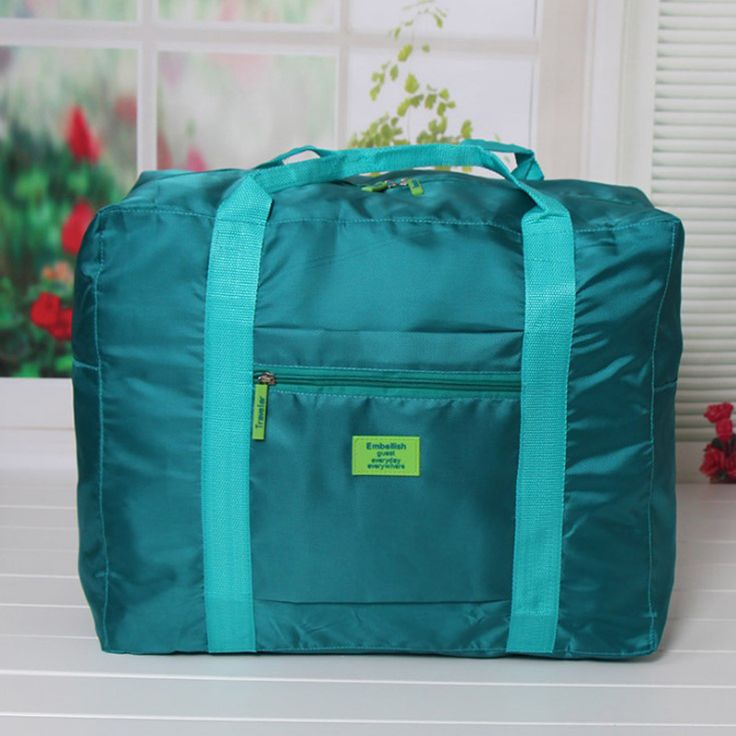 Double Zipper Waterproof Polyester Duffle Bag Men and Women Luggage Travel Bags Storage Packing Cubes Unisex Nylon Folding Bag