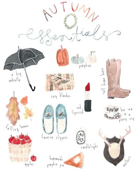 les choses essentielles de l'automne