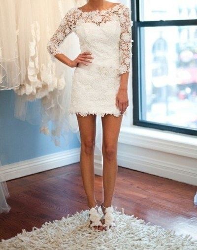 white long sleeved lace dress... With those shoes, a gorgeous rehearsal dinner outfit