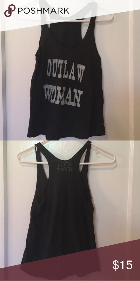 Judith March outlaw women tank Good used condition runs small. Size small. Judith March Judith March Tops Tank Tops