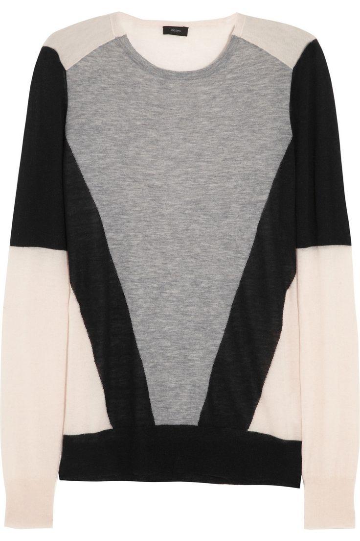 Joseph Color-block cashmere sweater NET-A-PORTER.COM