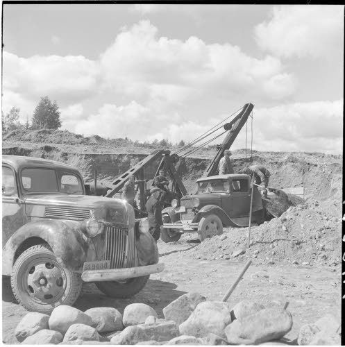Not Petsamo, but road construction in the war front, summer of 1942