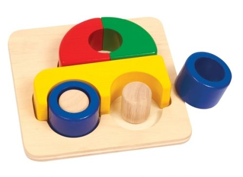Guidecraft Primary Puzzle - Car - Tumble & Roll Educational Toys. The big, chunky pieces of these colourful puzzles are easy for toddlers and preschoolers to grasp. Suitable for children 12 months+ $16.00 #educationaltoys #toddlerstoys #toys
