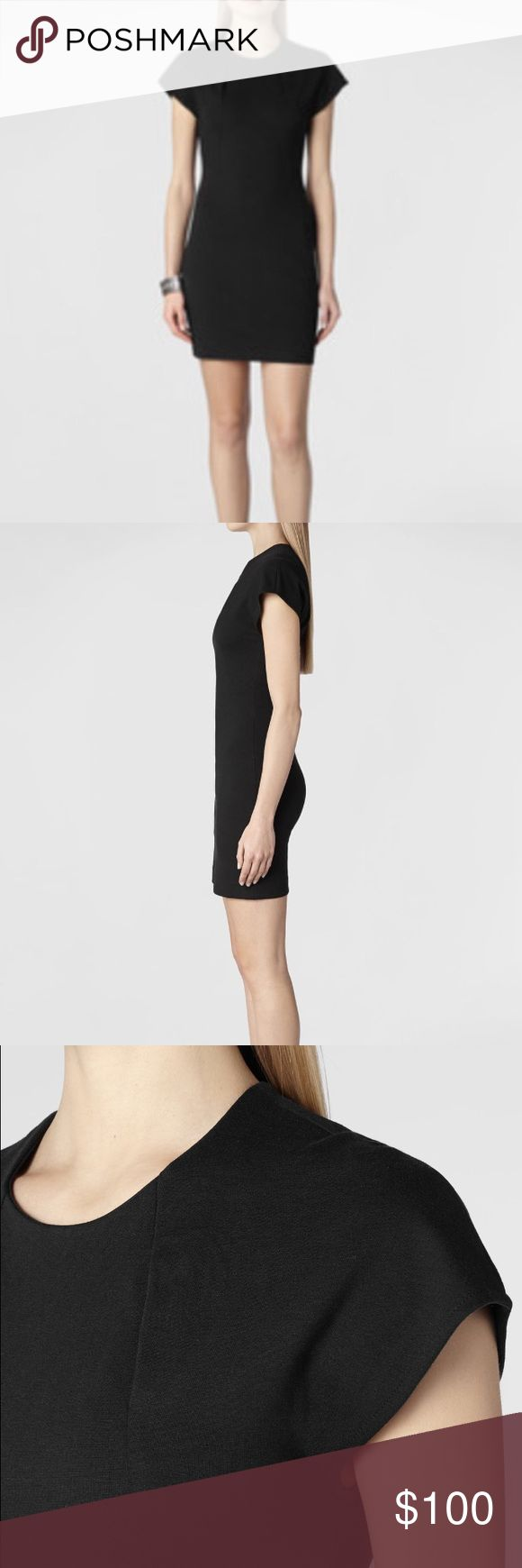 AllSaints Daphne Dress A perfect LBD! This dress is made of a modal/cotton/spandex blend.  It has cap sleeves.  The material is thick enough but still shows off your curves.  US 8 but fits more like a 6 All Saints Dresses Mini