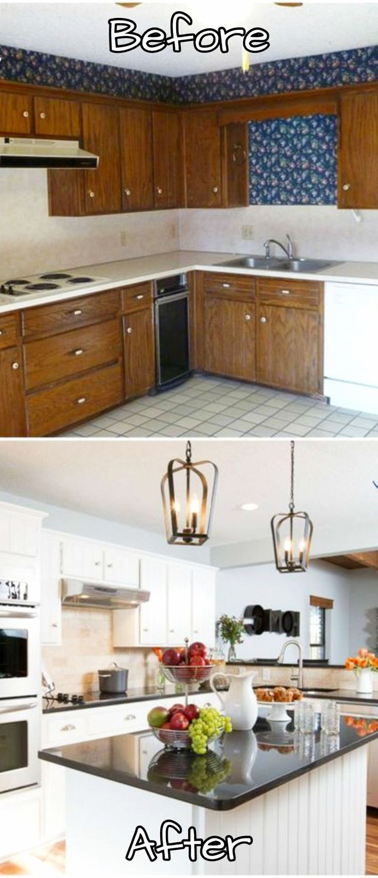 Before And After Small Kitchen: 233 Best Farmhouse Country Kitchen DIY Decorating Ideas
