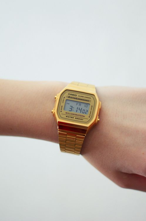 Gold Casio watch #Casio #goldwatch #accessories #goldjewelry