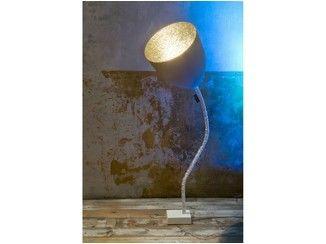Adjustable floor lamp FLOWER resin concrete effect CONCRETE - In-es.artdesign