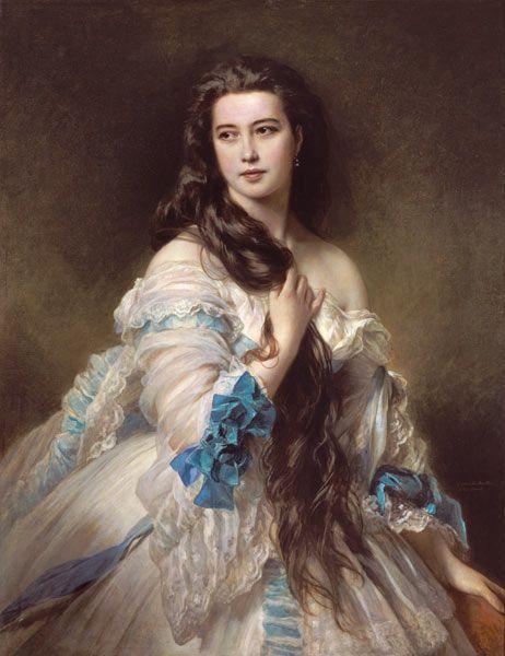 Franz Xaver Winterhalter-Portrait of Madame Rimsky-Korsakov (1833-78) nee Varvara Dmitrievna Mergassov