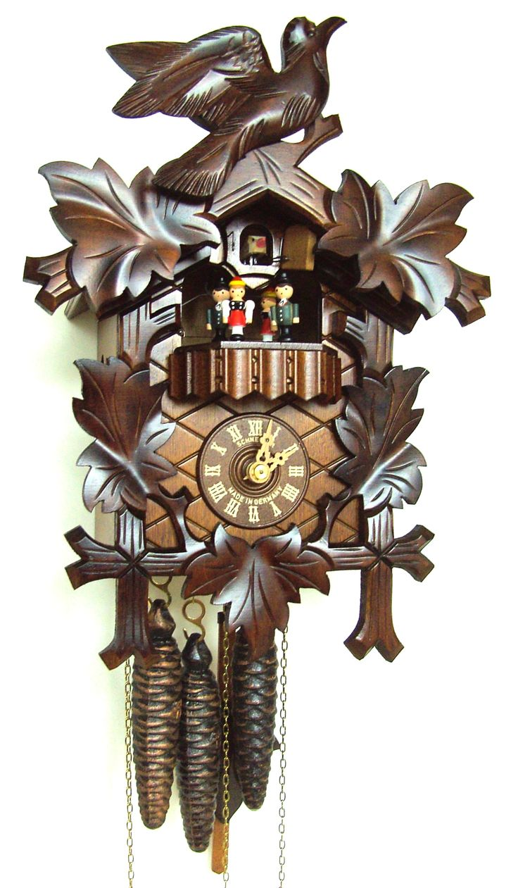 Anton schneider musical 1 day wind bird leaf dancers mt 6100 9 best cuckoo clocks and - Cuckoo bird clock sound ...