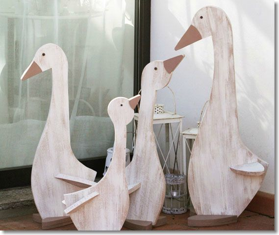 Wooden geese.........