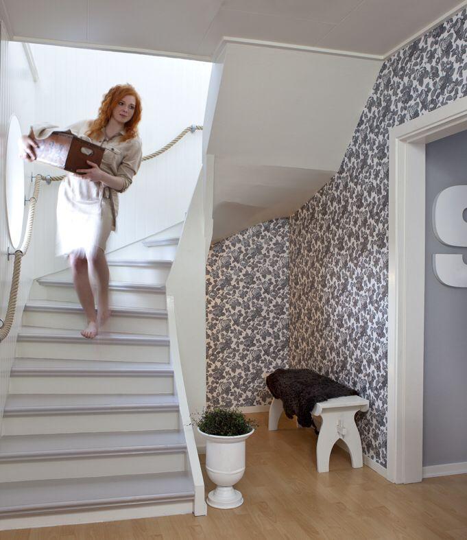 Fint målad trappa