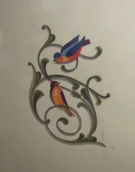 Fileteado pájaros