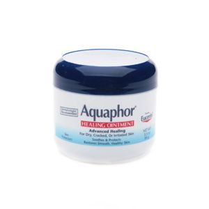 aquaphor healing ointment... a miracle worker on dry chapped skin and for