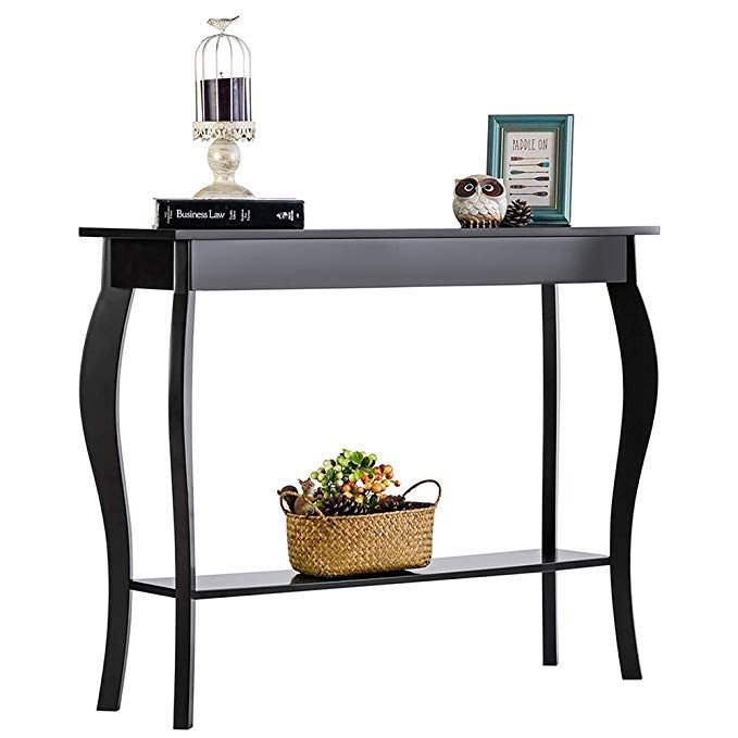 Amazon Com Choochoo Entryway Console Table With Drawer Behind