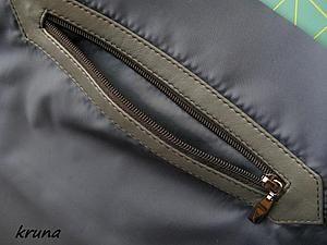 Как правильно обработать на подкладке сумки прорезной карман с накладной кожаной рамкой - Ярмарка Мастеров - ручная работа, handmade