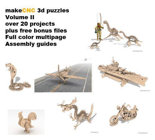 3d Puzzles Volume II - makeCNC Volume Packs   MakeCNC.com