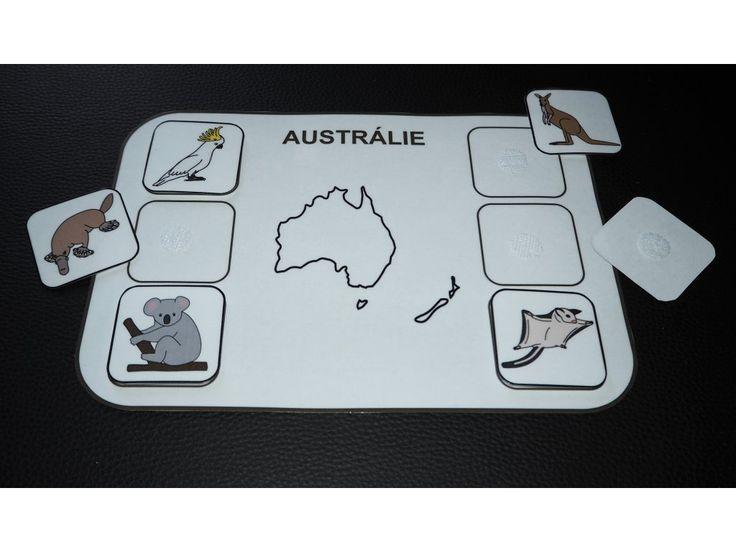 Zvířata světa. Kontinenty. Austrálie.
