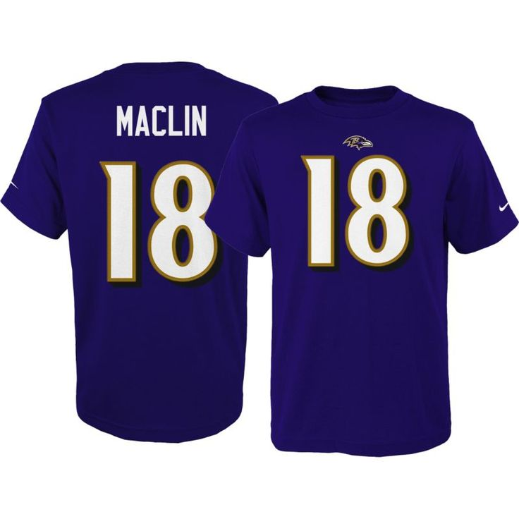 Nike Youth Baltimore Jeremy Maclin #18 Pride Purple T-Shirt, Team