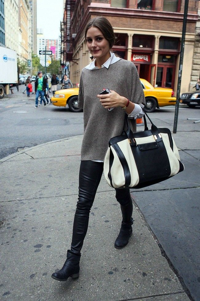 leather leggings + short boots
