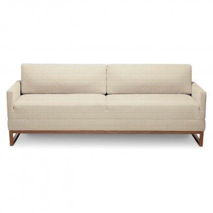diplomat modern sleeper sofa - stone 1