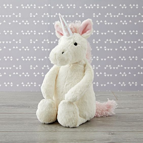Jellycat -  Bashful Unicorn Medium #jellycat #licorne #licorneforever  #doudou #enfants #bébé #cadeauxnoel #idéecadeau