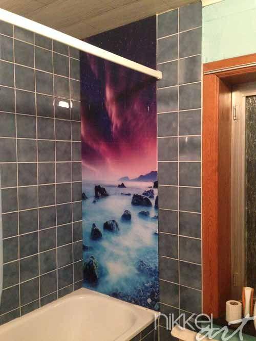 Badkamer foto achterwand ( voor en na )