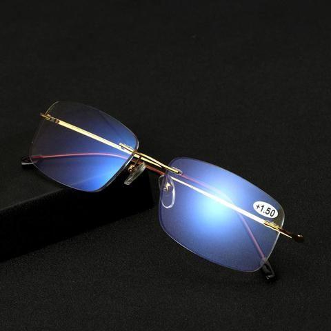 1936e87f77b Big channel Anti Blue Light Block Titanium Progressive Multifocal  Multifocus Reading Glasses Reader Eyewear Hyperopia Presbyopia