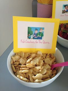 The Quints Fish Crackers - Food ideas for a Curious George Birthday Party