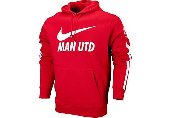 Nike Manchester United Core Hoodie - Diablo Red