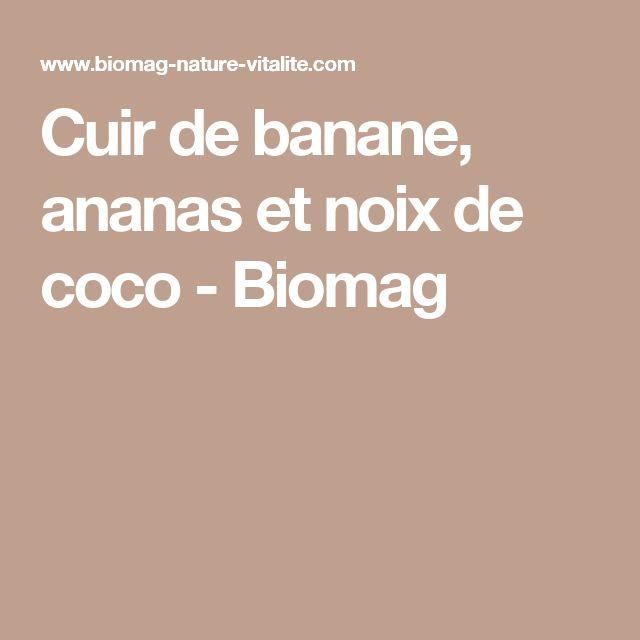 Cuir de banane, ananas et noix de coco - Biomag