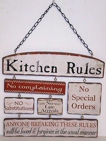41 best vintage kitchen signs images on pinterest