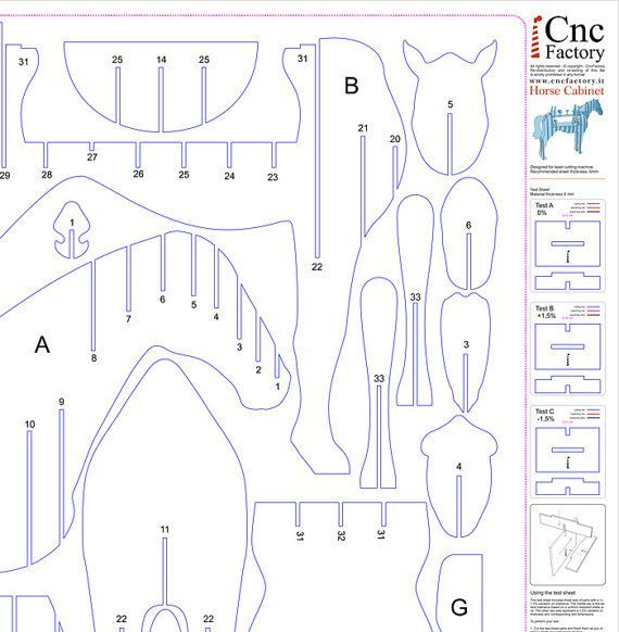 HORSE CABINET Template cutting file Horse storage от CncFactory