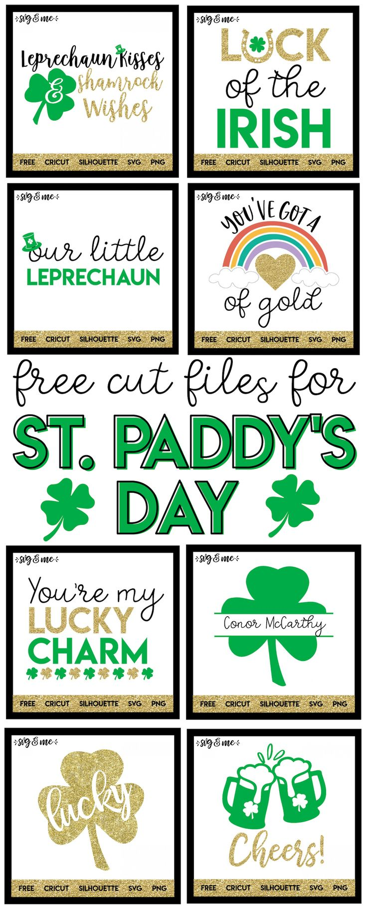 YES! This is an AMAZING roundup of tons of St. Patrick's Day free SVG cut files for all your DIY St. Patrick's Day decor and crafting needs! #cricut #silhouette #diy