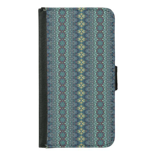 Vintage tribal aztec pattern samsung galaxy s5 wallet case