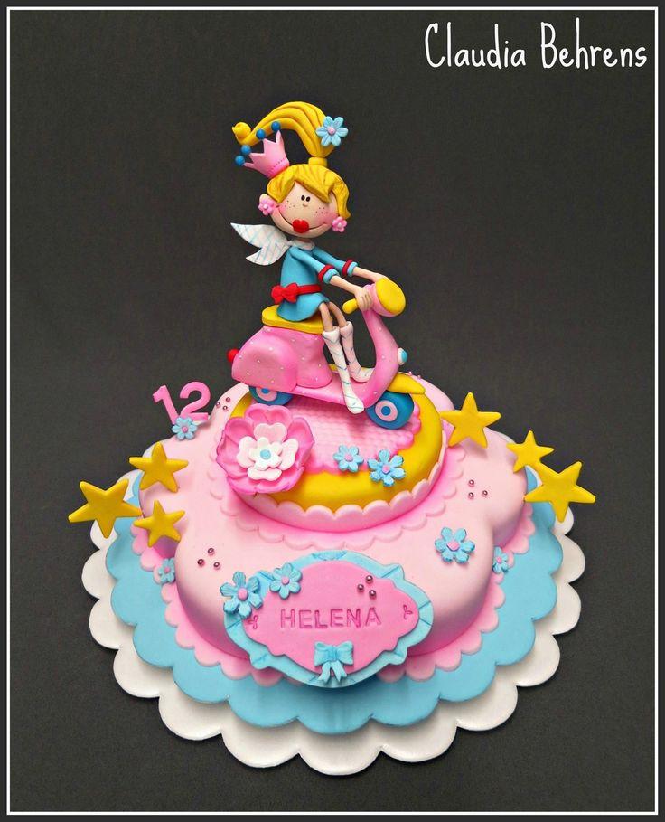 Vespa Girl Cake