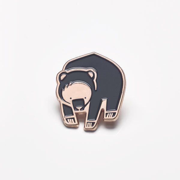Winter Bear Enamel Lapel Pin by BobbiePrint on Etsy