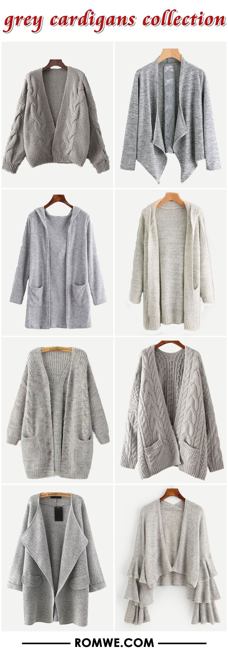 grey cardigans from romwe.com