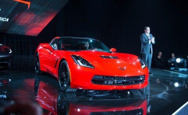 2014 Chevrolet Corvette C7 Stingray Convertible in auto show