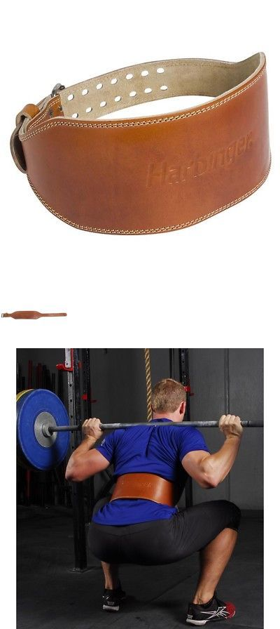 Gloves Straps and Hooks 179820: Harbinger 6 Oiled Leather Weight Lifting Belt - Brown -> BUY IT NOW ONLY: $53.99 on eBay!