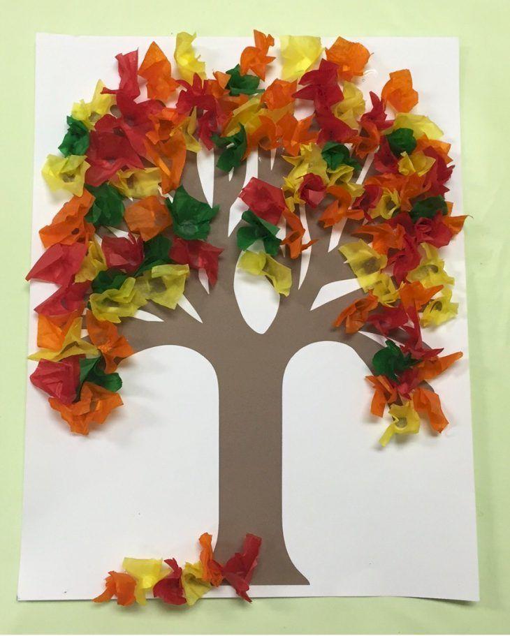 Fall Tissue Paper Tree