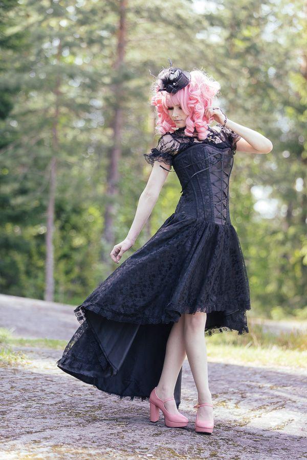 Black Corset Dress by Burleska   Photo: Rudi Thomas Photography