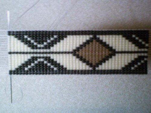 Rolling Thunder Medicine Man Beaded Hat Band~Replica of beaded hatband