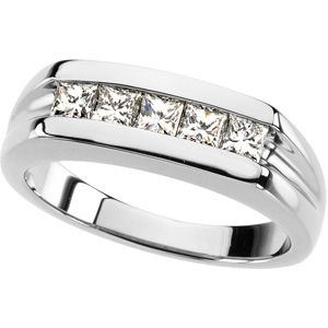 Platinum Gent's Diamond Ring