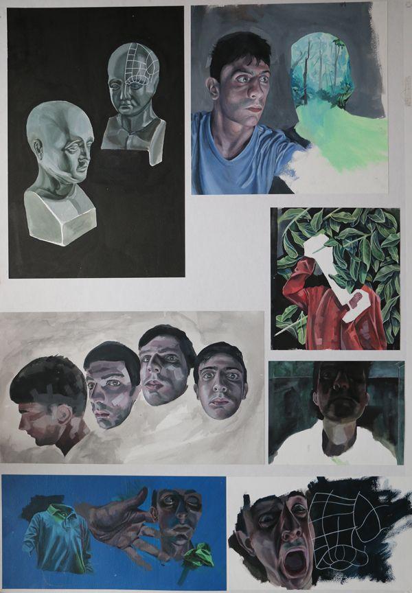 Top Art Exhibition - Painting » NZQA 2015 Kelly van der Hurk, Taieri College Board1