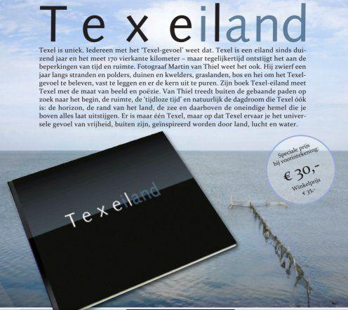 Fotoboek met poezie Texel-eiland